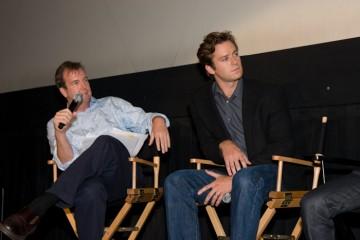 Moderator Patrick Connolly and Armie Hammer