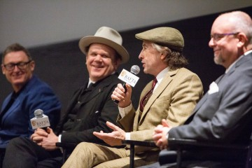 Jeff Pope, John C. Reilly, Steve Coogan and Mark Coulier
