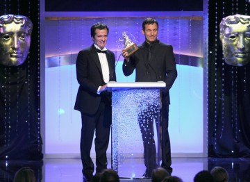 Harry Potter Producer David Heyman and actor Jason Isaacs.