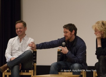 Director Jon S. Baird, James McAvoy and Producer Trudie Styler
