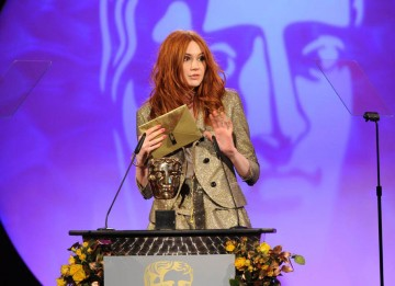Doctor Who's leading lady, Karen Gillan, presents the Break-through Talent Award sponsored by The Farm, recognising outstanding new industry talent.