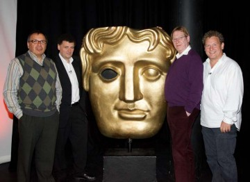 Maurice Gran, Steven Moffat, Laurence Marks and Ashley Pharoah after the event.
