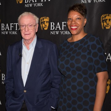 Michael Caine with BAFTA New York CEO Julie La'Bassiere