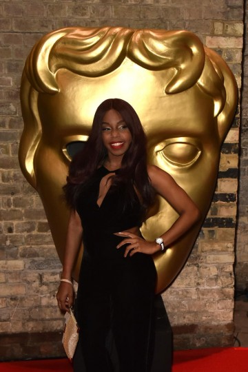 London Hughes on the red carpet