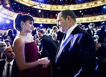 Penelope Cruz and Harvey Weinstein at the 2012 Film Awards