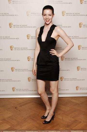 St Trinian' star Talulah Riley backstage after presenting the Make Up & Hair Design Award (pic: BAFTA / Richard Kendal).