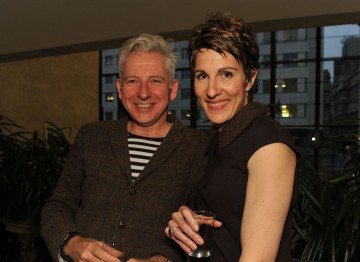Tamsin Greig and guest at the Television Nominee's Party 2012