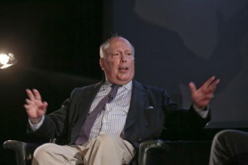 Lord Julian Fellowes delivering his lecture as part of the BAFTA and BFI Screenwriters' Lecture Series in 2012.