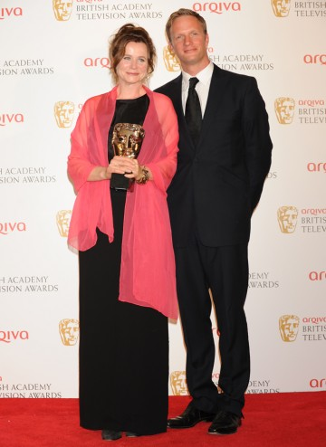 Rupert Penry-Jones presented Emily Watson with the Leading Actress BAFTA for her role in Appropriate Adult.