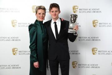 Lorn MacDonald with presenter Shauna MacDonald, Actor Film.