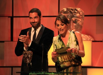 Suranne Jones and Tom Ellis present the award for Reality and Constructed Factual - a brand new category for the 2012 Awards.