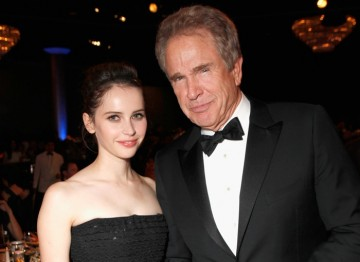 Felicity Jones and Warren Beatty