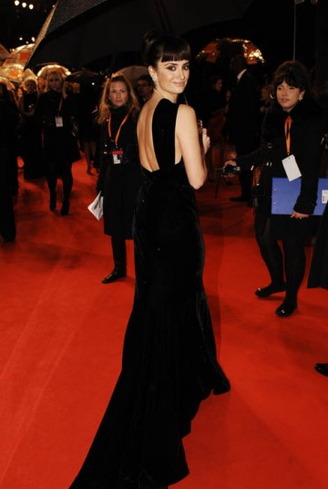 Best Supporting Actress nominee Penelope Cruz caught the eye in Vicky Cristina Barcelona, and in this flowing black creation by Alaia (BAFTA / Richard Kendal).