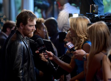 Michael Fassbender on the red carpet at the BAFTA LA 2014 Awards Season Tea Party.