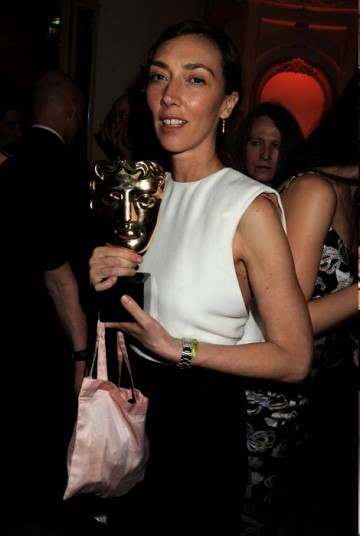 Martina Amati with her Short Film BAFTA at the Official Soho House and Grey Goose party for the Orange British Academy Film Awards.