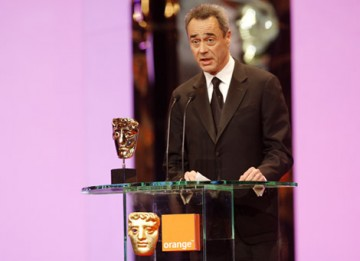The Animated Film BAFTA was presented to WALL*E and collected by the film's producer Jim Morris (BAFTA / Marc Hoberman).