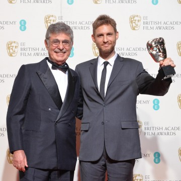 Winners of the Film not in an English Launguage award - Wild Tales. From L-R: Huga Sigmam and Damián Szifron