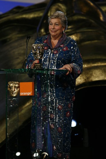 Editor Anne V. Coates, whose credits include Lawrence Of Arabia, The Elephant Man and The Golden Compass, accepts the Academy Fellowship (BAFTA / Brian Ritchie).