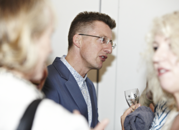 Jeremy greets some of the guests after the lecture. (Picture: BAFTA / J. Birch)
