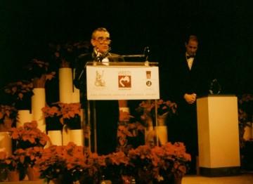 Martin Scorsese accepts his Britannia Award.