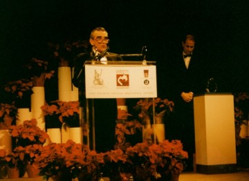 Martin Scorsese accepts his Britannia Award.
