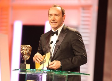 Kevin Spacey, past BAFTA winner for American Beauty, announces the winner of Outstanding Debut by a British Writer, Director and Producer. (Pic: BAFTA/ Stephen Butler)