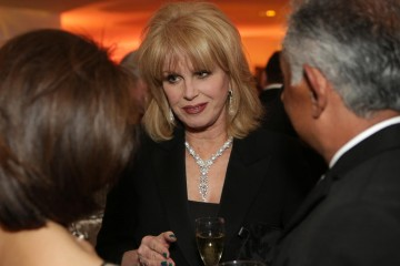 Joanna Lumley looks dazzling at the the champagne reception