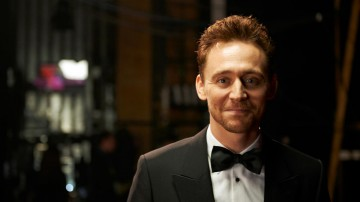 Backstage at London's Royal Opera House with Tom Hiddleston, presenter of the BAFTA for Outstanding Debut By A British Writer, Director or Producer.