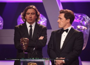 Steve Coogan and Rob Brydon step up to present the first award of the evening.