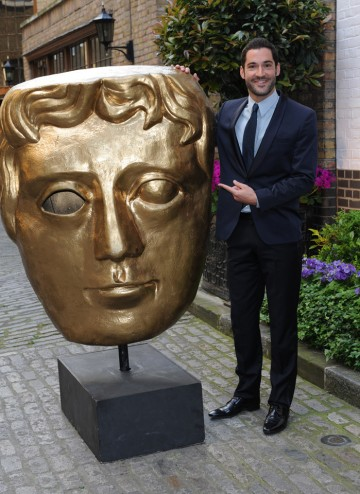 The Welsh actor, know for his roles in Eastenders and Miranda arrives at The Brewery to present the Award for Director: Multi-Camera at the Television Craft ceremony.
