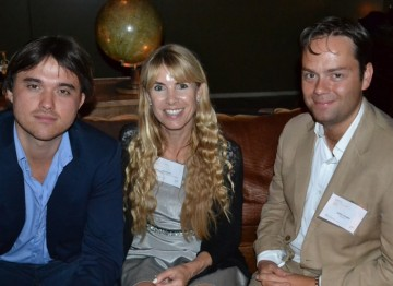 Patrick Dickinson and Adrian Sturges with BAFTA Los Angeles Board Member Julia Verdin