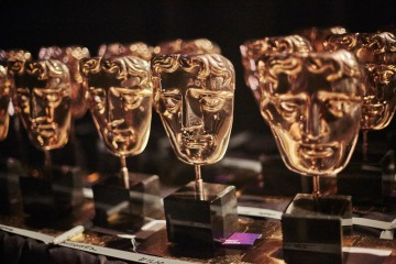 The BAFTA masks set out ready to be presented