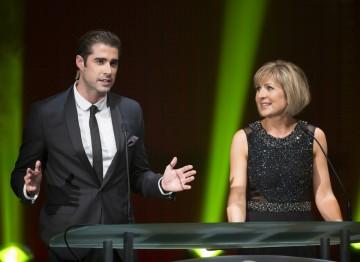 Television presenter Matt Johnson & news presenter Sian Lloyd hosted the ceremony