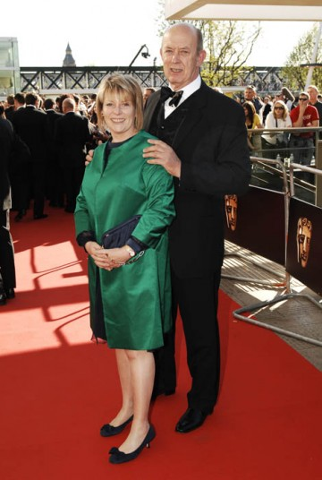 Hilary Bevan-Jones (former BAFTA chairman and current vice chairman) arrives on the Television Awards red carpet.