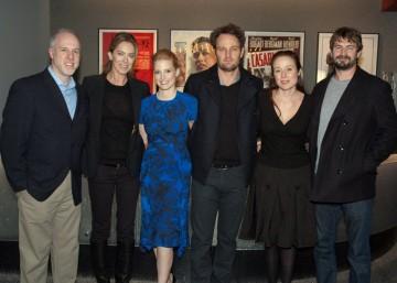 Kathryn Bigelow, Mark Boal, Jennifer Ehle, Jessica Chastian, Jason Clarke and moderator Steve Daly