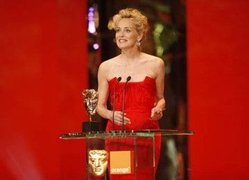A stunning looking Sharon Stone presented the coveted Outstanding British Film category to the documentary Man on Wire (BAFTA / Marc Hoberman).