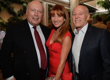 Julian Fellowes, Jane Seymour and Frank Marshall