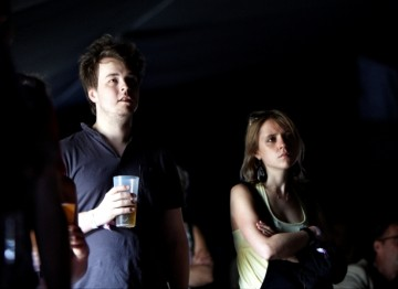 Friday 16 July: Festival goers watching a BAFTA screening of short film 'I Do Air' (Picture: Jonathan Birch)