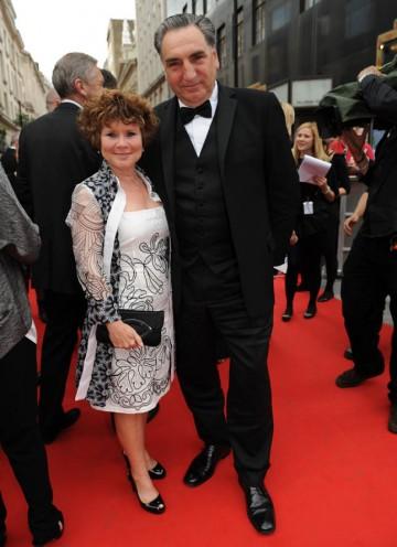 Husband and wife Jim Carter and Imelda Staunton join the red carpet (BAFTA/Richard Kendal).
