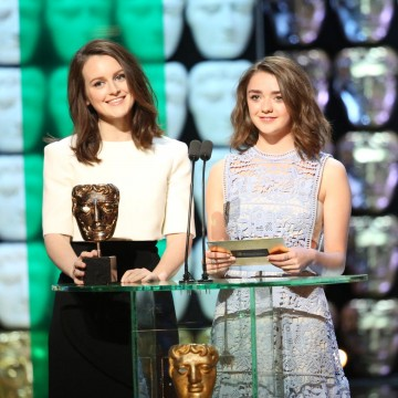 Sophie McShera and Maisie Williams present the award for Scripted Comedy