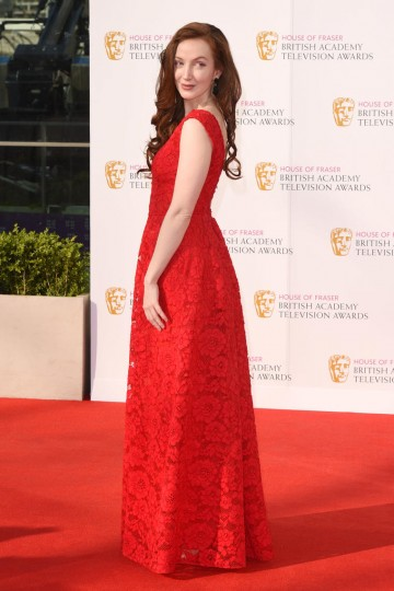 Olivia Grant looks stunning in red