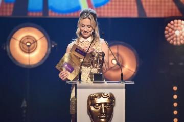 Kimberly Wyatt presents the BAFTA for International at the British Academy Children's Awards in 2015