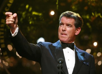 Presenter Pierce Brosnan