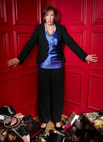 Miranda Hart poses for the Television Awards comedy photoshoot in 2010.