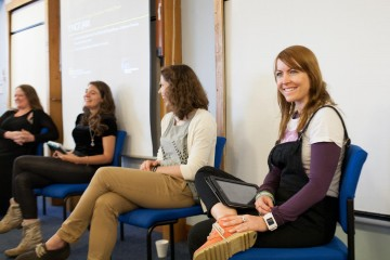 Panellists Luci Black, Dr. Sarah Dargie, Timea Tabori and Dr. Jo Twist