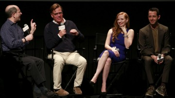 Brian Rose, Aaron Sorkin, Jessica Chastain, Jeremy Strong