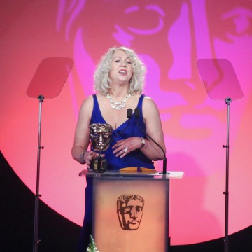Anne Morrison presents the Special Award at the British Academy Television Craft Awards in 2015