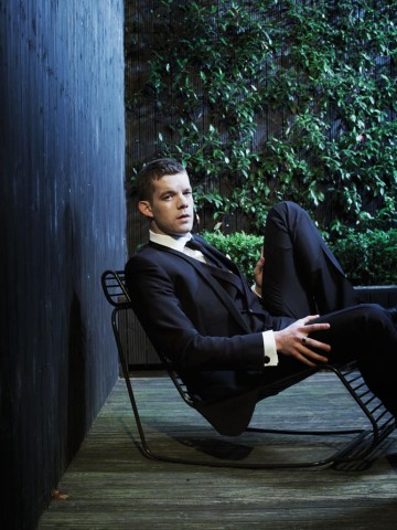 "Russell Tovey photographed for ""Drama Ties"", a photographic essay printed in the 2011 Television Awards programme."