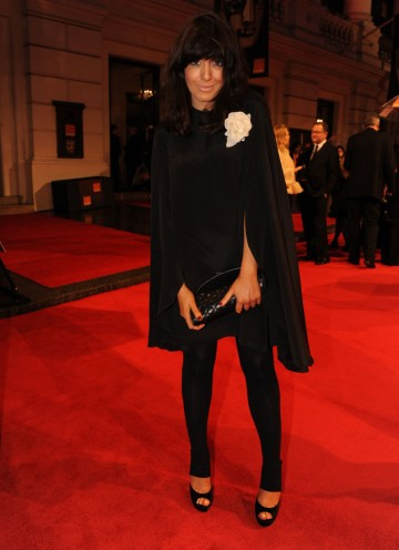 Claudia Winkleman, who hosts the BBC's weekly film review show Film 2011. Winkleman is wearing TopShop. (Pic: BAFTA/Richard Kendal)