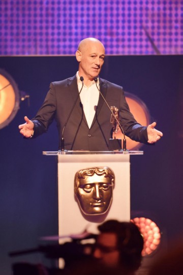Connor Bryne presents the BAFTA for Short Form at the British Academy Children's Awards in 2015